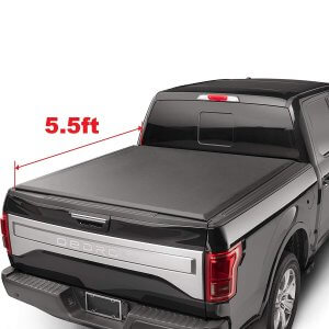 OEDRO FOLD Truck Bed Tonneau Cover Compatible with 2015-2019 Ford F-150