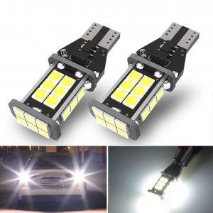 2x T15 921 912 LED Backup Light Bulbs, Error Free, White, 12v, 4.5w