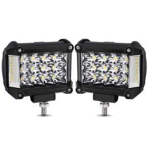 """YITAMOTOR 2Pcs 4"""" 76W Side Shooter LED Pods Combo LED Light Bar"""