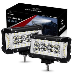 YITAMOTOR 5'' 264W Side Shooter LED Pods LED Light Bar