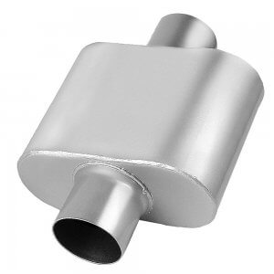 3 Inch Inlet And 3 Inch Outlet Universal Single Chamber Exhaust Muffler