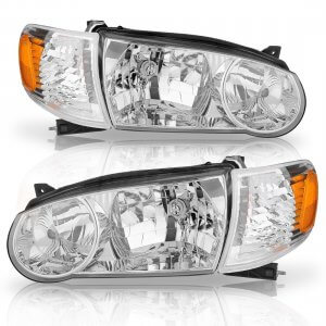 Headlight Assembly For Toyota Corolla 2001-2002 (Driver and Passenger Side)