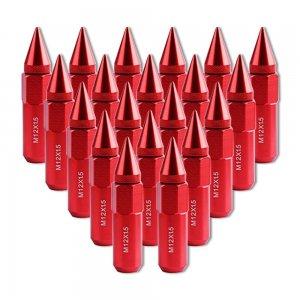 """Lug Nuts 12x1.5 Red,3.54"""" Tall 3/4"""" Hex"""