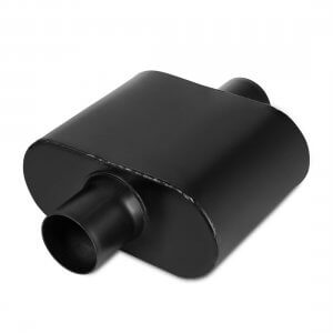 "2.5 Inch Inlet Black Universal Exhaust Muffler Deep Sound, 12.5"" Overall Length"