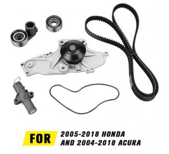 Water Pump Timing Belt Kit for 2003-2014 Honda, 2003-2014 Acura, 2004-2007 Saturn