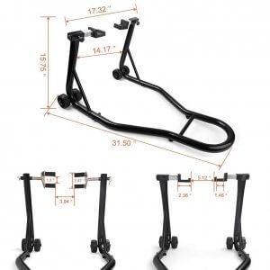 Universal Sport Bike Motorcycle Front & Rear Swingarm Spool Paddock Lift Stands