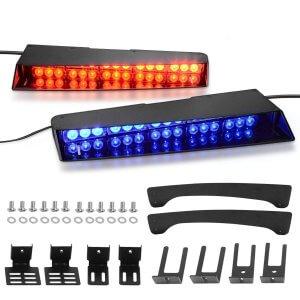 Red Blue Police Visor Emergency Lights