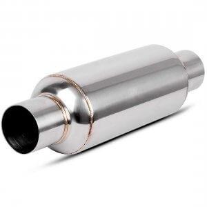 2.25 Inch Inlet Black Universal Exhaust Muffler Deep Sound