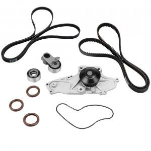 Timing & Serpentine Belt Kit with Water Pump for 2003-2014 Honda Acura