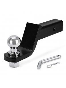 "Trailer Hitch Class III Ball Mount With 2"" Hitch Ball Pin and Clip Starter Kit"