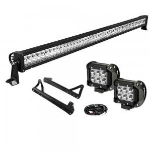 YITAMOTOR 50inch Light Bar +2x 18W Pods +Brackets +Wiring for Jeep JK Wrangler