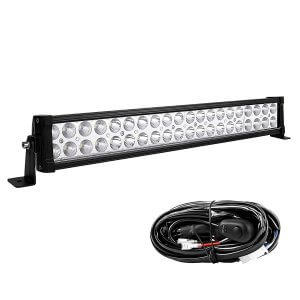 YITAMOTOR 24inch Light Bar with Wiring Harness 120W Offroad Light