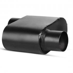 3 Inch Inlet Black Universal Exhaust Muffler Deep Sound